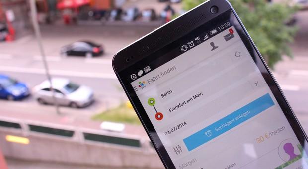 Über BlaBlaCar können sich Leute zum Mitfahren verabreden, um die Kosten der Fahrt zu teilen.