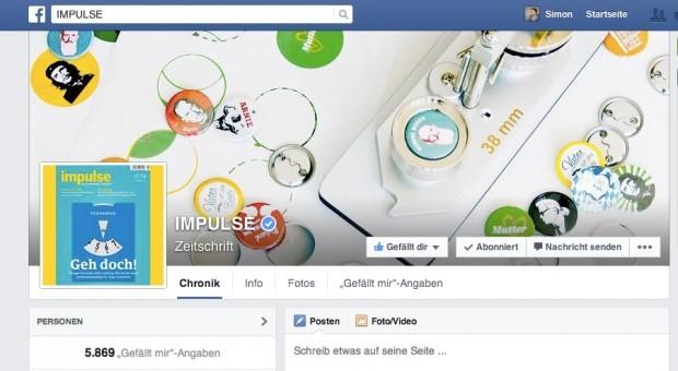 Der Facebook-Auftritt von impulse.