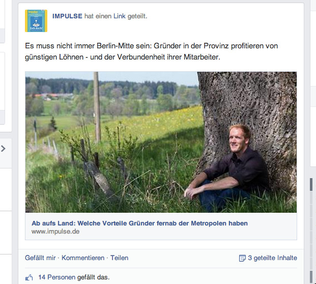 impulse bei Facebook