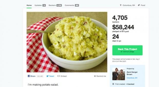 Die ungewöhnliche Sammel-Aktion bei Kickstarter.