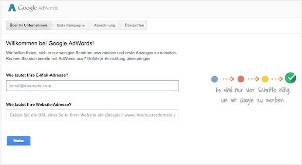 Ein Screenshot der Google-Website