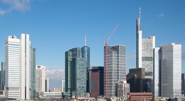 Das Bankenviertel in Frankfurt.