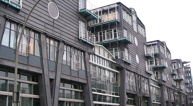 Das Verlagshaus von Gruner + Jahr am Baumwall in Hamburg.