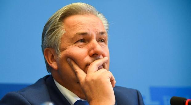 Klaus Wowereit während seiner Rücktrittsankündigung am Dienstag im Roten Rathaus in Berlin.