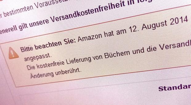 Auf seiner Website kündigt Amazon die Preisanhebung an.