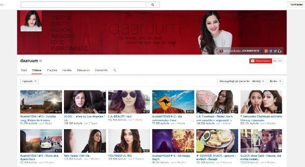Über 800.000 Abonnenten verfolgen die Liefestyle- und Beauty-Tipps auf dem Youtube-Kanal von daarumm.