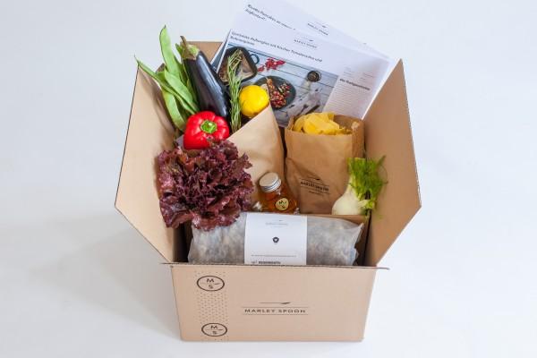 Marley Spoon schickt alle Lebensmittel für ein Rezept passend abgemessen