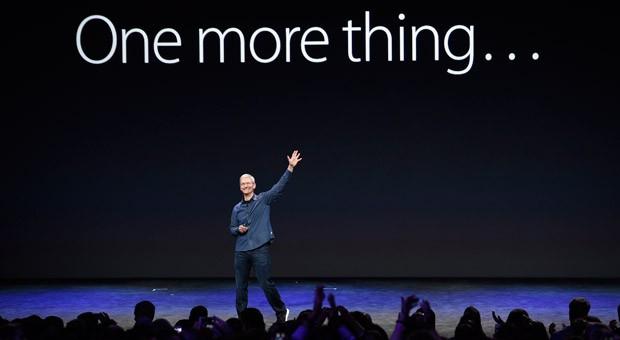 Apple-Chef Tim Cook bei der Präsentation der neuen Apple-Produkte am Dienstag in Cupertino, Kalifornien.