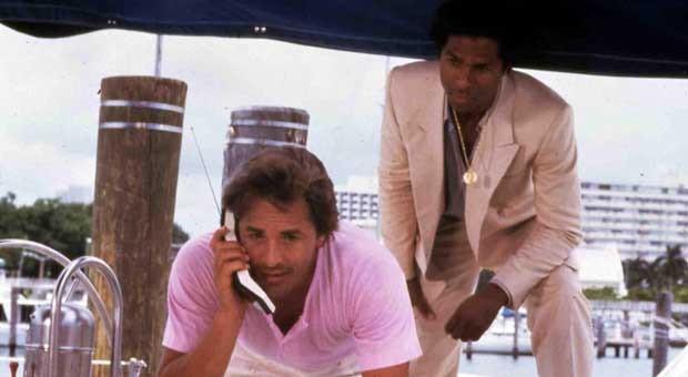 Die beiden Hauptdarsteller in der US-Kultserie Miami Vice: Don Johnson und Philip Michael