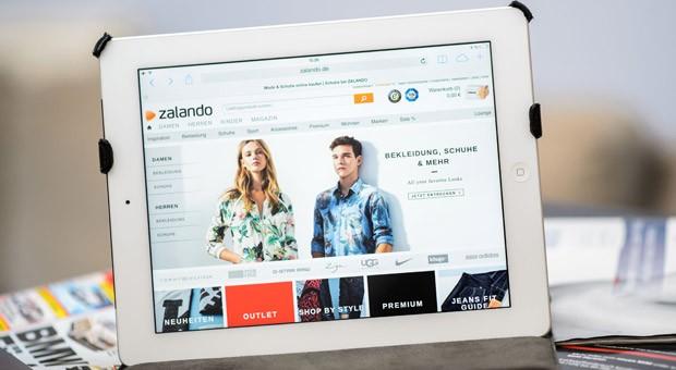 Die Webseite von Zalando