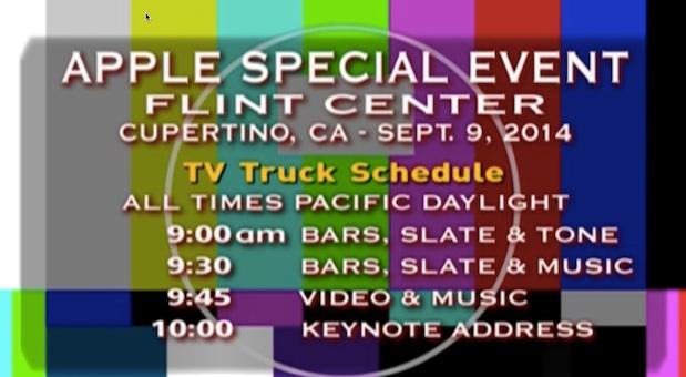 Statt der Liveübertragung sahen die Apple-Jünger zeitweilig ein Testbild.
