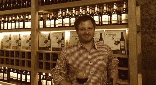 Steffen Broy arbeitet im Vertrieb bei der Brauerei Riegele und verkauft die neuen Brauspezialitäten