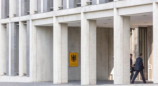 Der Eingang des Bundesarbeitsgerichts in Erfurt.