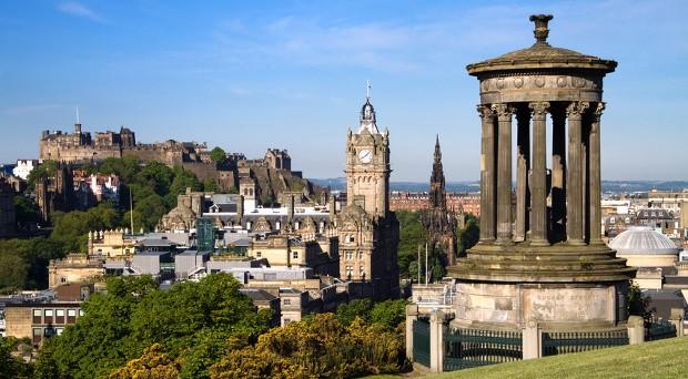 Am Donnerstag entschied sich eine Mehrheit der Schotten gegen ein Unabhängigkeit von Großbritannien. Im Bild: Schottlands Hauptstadt Edinburgh