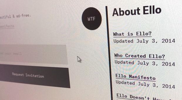 Die Website von Ello.