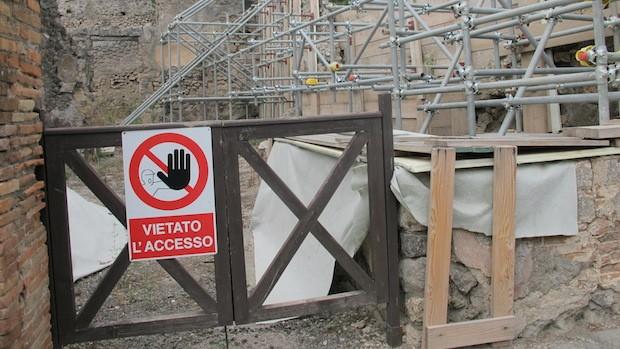 Viele Italiener befürchten, dass Pompeji zur Dauerbaustelle verkommt