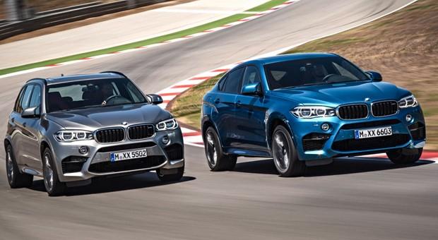 Newcomer aus dem Hause BMW: der X5 M (links) und der X6 M.