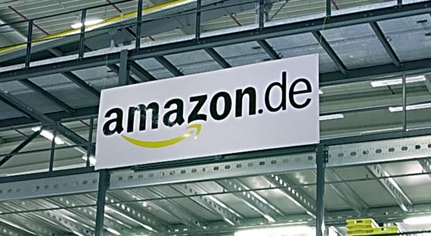 Das Logo von Amazon.