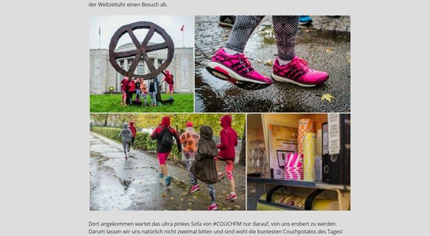 Ein pinker Adidas-Schuhe im Blog von Freiseindesign, mit verschiedenen Outfits ins Szene gesetzt: Der Sportartikelhersteller arbeitet nach eigenen Angaben mit mehr als 200 Internet-Autoren zusammen.