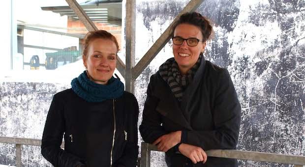 Die Künstlerinnen Dany Heck (l.) und Christiane Limper