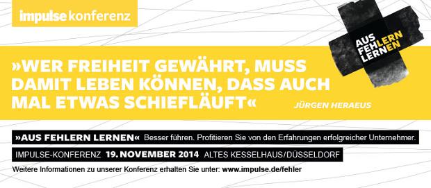 impulse Fehlerkonferenz in Düsseldorf