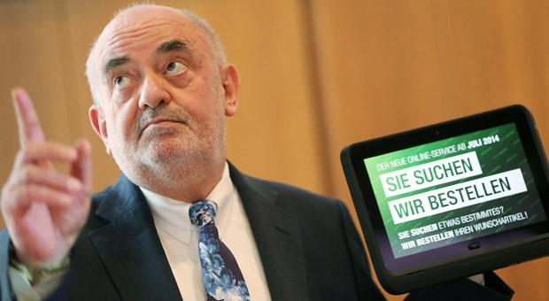 Der bisherige Kaufhof-Chef  Lovro Mandac bei der Vorstellung der neuen Online-Strategie im April 2014.