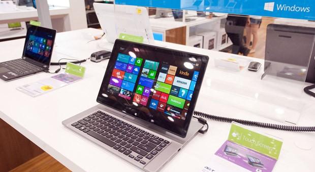 Laptops mit dem Windows-Betriebssystem von Microsoft.