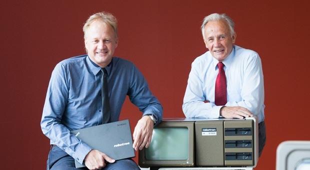Visionäre: Rolf Heinemann (r.) rettete 1990 mit Mut und Ideen seine Abteilung. Sein Sohn Ulf (l.) führte die Firma in eine neue Zeit.
