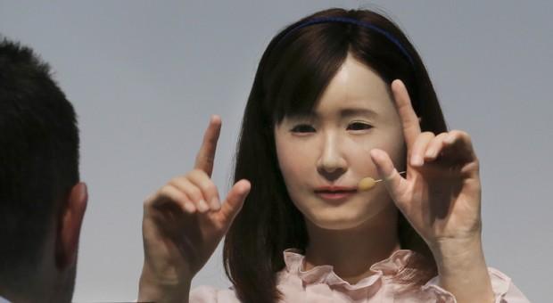 "Roboterfrau: Toshibas ""Ms. Aiko Chihir""."