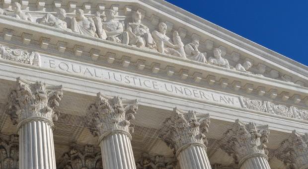 Das Portal des Supreme Court in Washington.