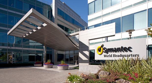 Die Firmenzentrale von Symantec in Mountain View, Kalifornien.