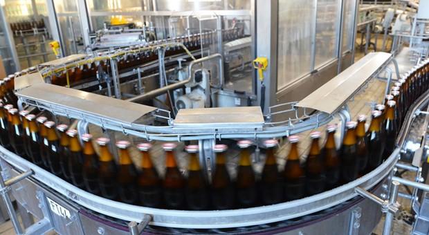 Blick in die Produktion einer Brauerei.
