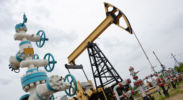 Eine Pumpe zur Ölförderung.