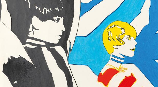 """Der deutsche Pop-Art-Künstler Werner Berges schuf """"Die Beiden"""" im Jahr 1967."""