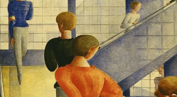 """Ein Ausschnitt aus Oskar Schlemmers Werk """"Bauhaustreppe"""" (1932)."""