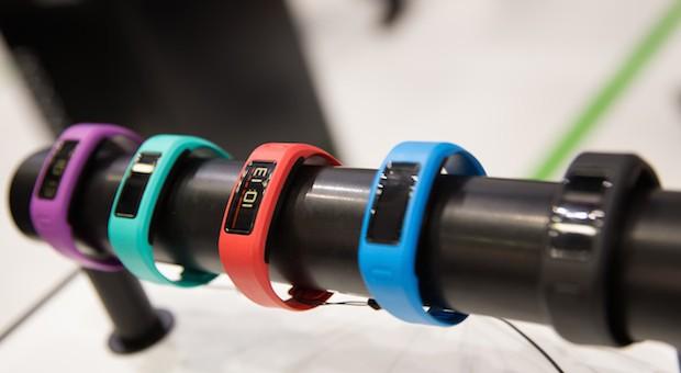 Fitness-Armbänder aufgenommen 2014 auf der Internationalen Funkausstellung in Berlin.
