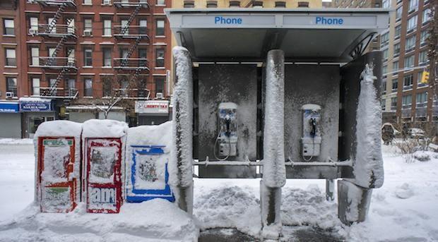 Bald ausgedient: Telefonzellen in New York