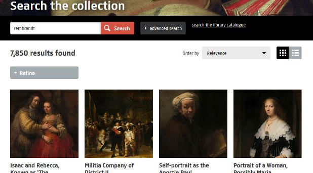 Über die Homepage des Amsterdamer Rijksmuseums können Interessierte nahezu jedes Werk näher betrachten.