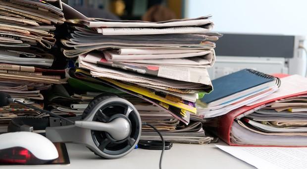 Ordnung auf dem Schreibtisch: für viele eine beinah unmögliche Herausforderung