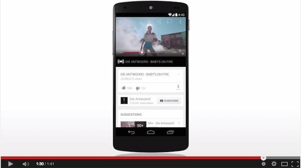 Der neue Streamingdienst Youtube Music Key (Screenshot aus einem Youtube Promotion Video)