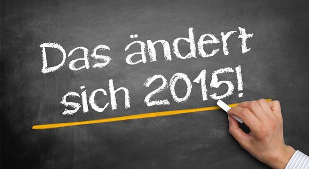 Zum Jahreswechsel am 1. Januar 2015 sind mehrere Gesetzesänderungen in Kraft getreten.