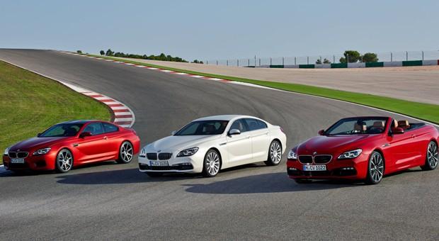 Ab Frühjahr 2015 auf dem Markt: die neuen 6er Modelle von BMW - M6, Gran Coupé und Cabrio (von links).