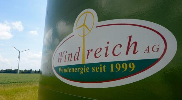 Eine Windkraftanlage des Windparkentwicklers Windreich in Gnannenweiler (Baden-Württemberg).