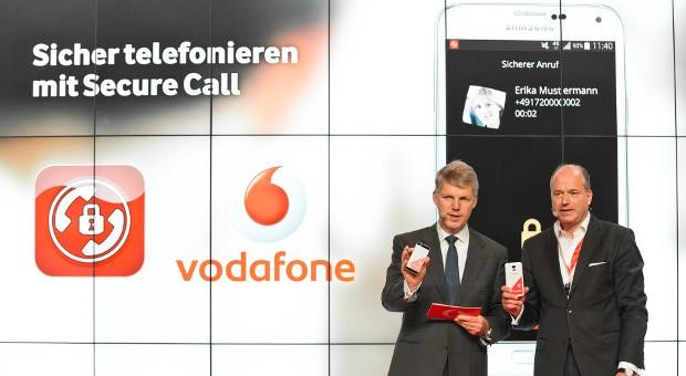 Der erste abhörsicherer Anruf mit der Vodafone App Secure Call wurde bereits auf der CeBIT 2014 vorgestellt.