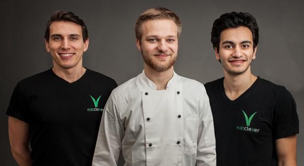 Teilen nicht nur die Leidenschaft für gutes Essen: Marco Langhoff,  Robin Himmels, Mohamed Chahin wollen mit Eat Clever den Lieferservicemarkt erobern