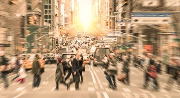 Rush Hour in Manhattan, New York: Fast die Hälfte der Amerikaner hatte 2014 laut einer Umfrage keinen einzigen Urlaubstag.