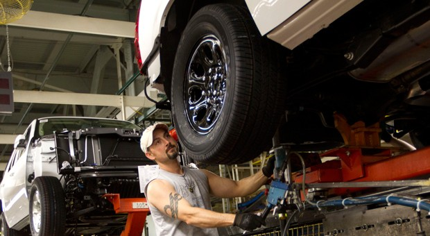 Viel zu tun: Einblick in die Produktion von General Motors in Arlington (Texas).