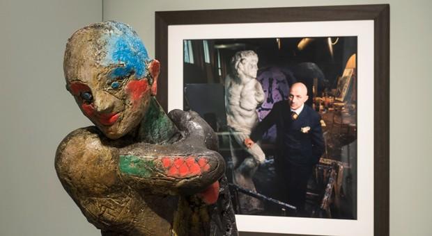 Die Bilder und Skulpturen in der Bundeskunsthalle sind ganz überwiegend nicht von Michelangelo, sondern spiegeln seinen Einfluss von der Renaissance bis heute. Im Bild: Die Apollstatue von Markus Lüpertz aus dem Jahr 1989.