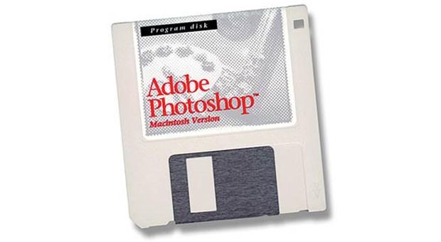 Auf einer Diskette fing alles an: die Photoshop-Version 1.0.
