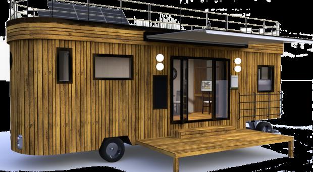 Erschwingliches Haus: Der Wohnwagon ist ein mobiles Heim mit eigener Energieversorgung.